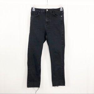 Zara Trafaluc Skinny Crop Raw Hem Jeans, Size 6